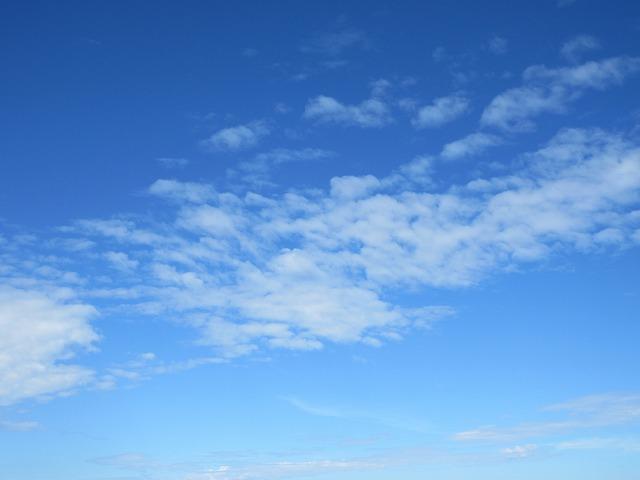 ②空を見て